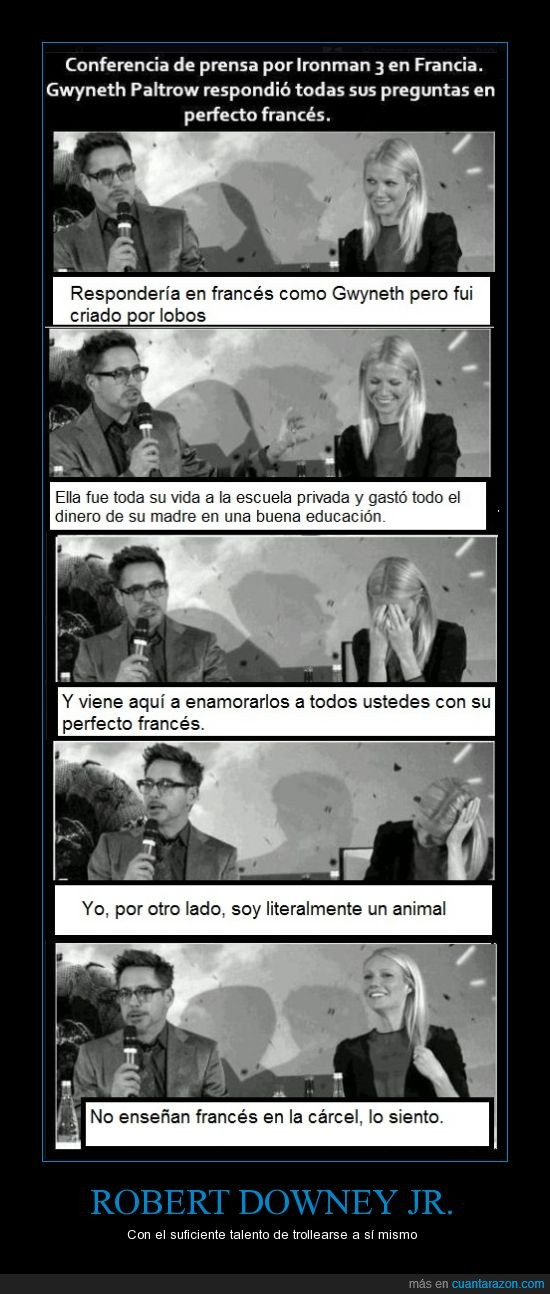 conferencia,francia,iron man,paltrow,robert downey