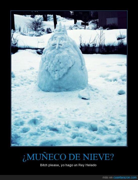frio,hora de aventuras,muñeco de nieve,nieve,Rey helado