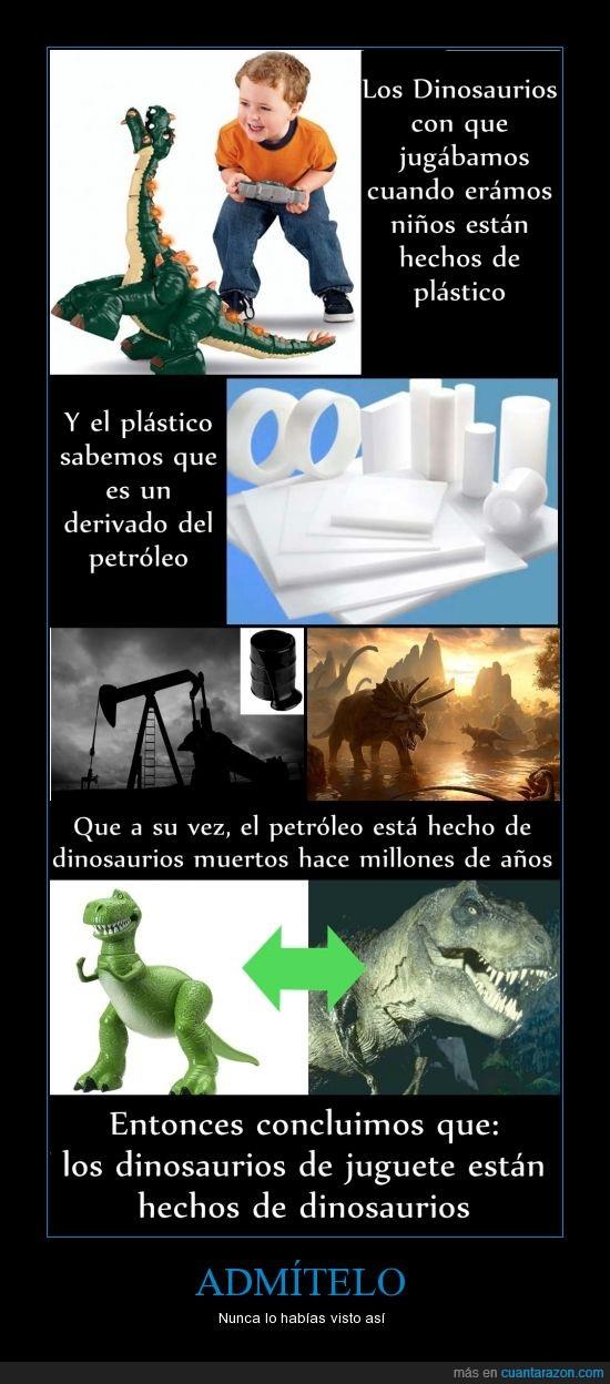 Dinosaurios,filosoraptor,Juguetes,niñez,Petróleo,plástico,si no me la aceptan llorare: es en serio