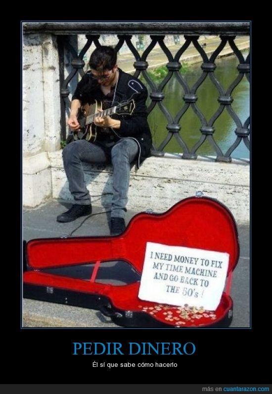 50s,dinero,guitarra,maquina,musica,rock,tiempo