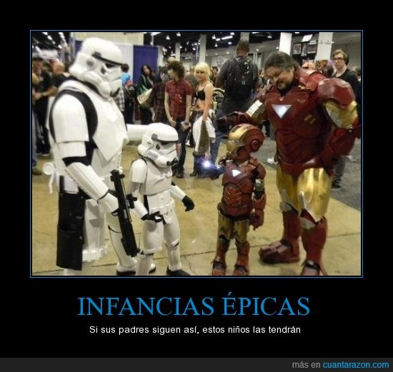 clon,Iron Man,padre e hijo,soldado,stormtrooper