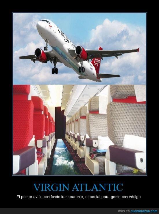 avion,fondo,trasparente,vertigo,Virgin Atlantic
