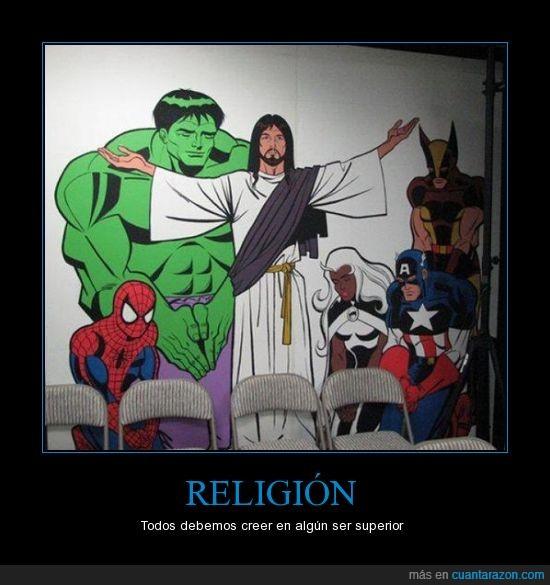 creencias,jesus,religión,spiderman,the avengers