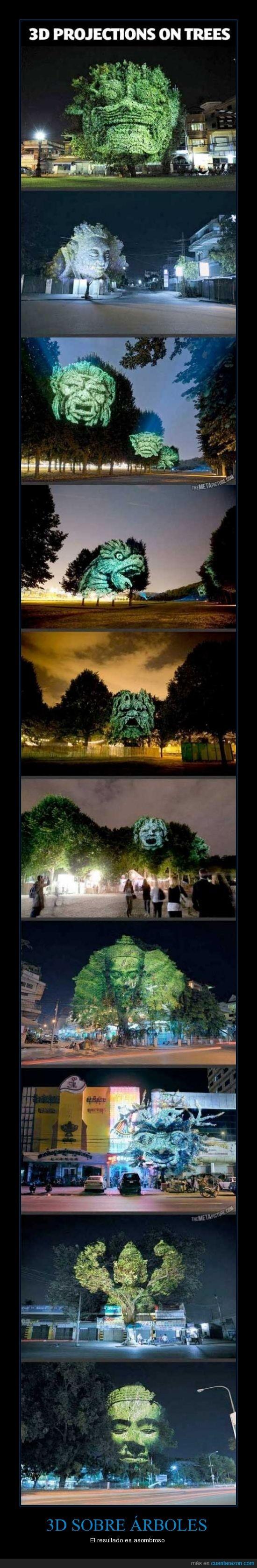 3d,árboles,asombroso,proyecciones