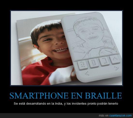 braile,ciegos,india,smartphone
