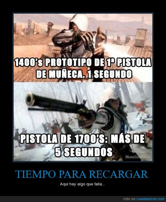 Assassin's Creed,lógica,pistola,recargar,reload