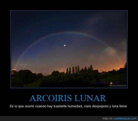 arcoiris,hermoso,humedad,luna