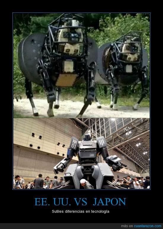 Diferencias,Japón,Robotica,Tecnologia