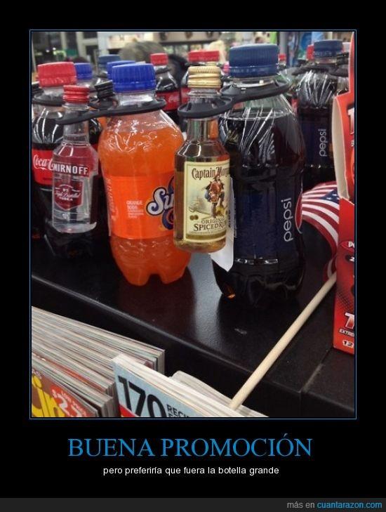 alcohol,botella,capitan morgan,fanta,pepsi,ron,vodka,whisky