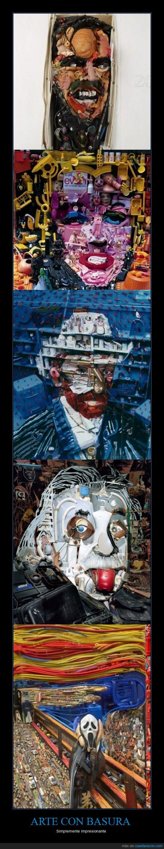 arte,basura,einstein,el grito,mas imágenes en el link,monroe