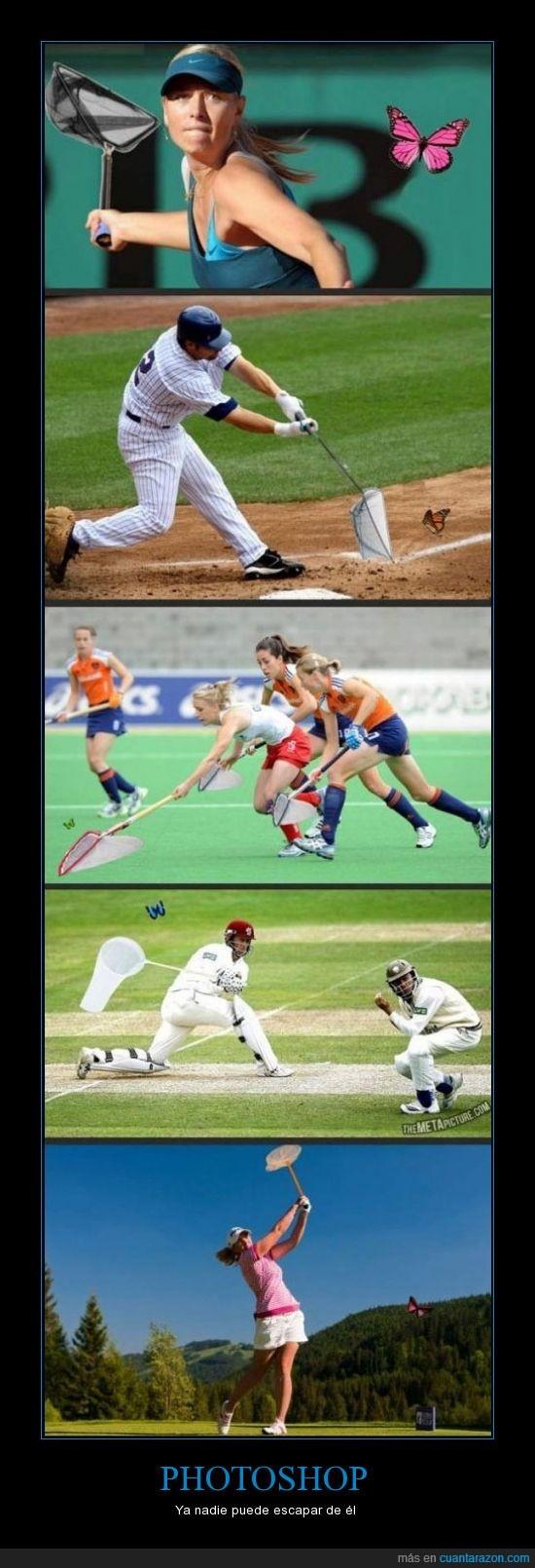 atletas,atrapar,mariposas,photoshop
