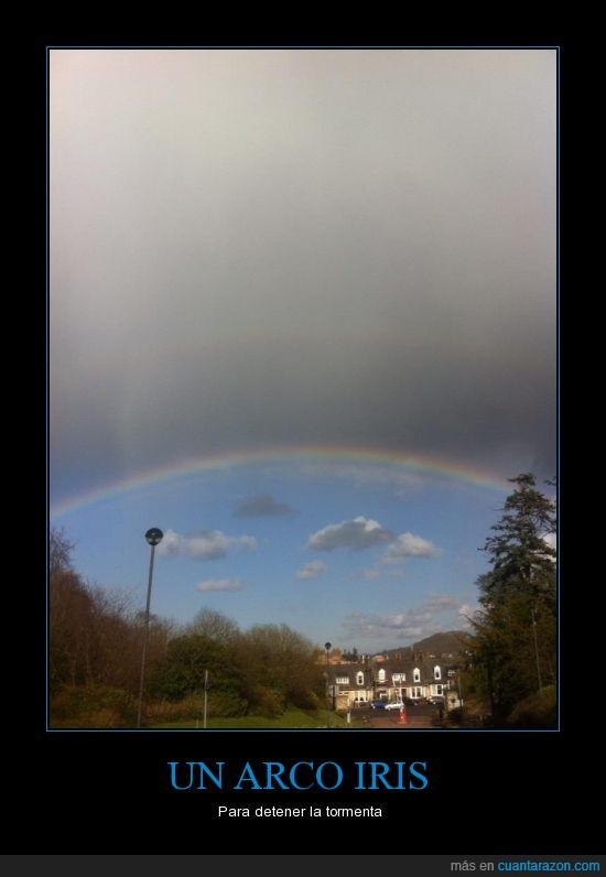 Arco Iris,Cielo,ciudad,nubes,Tormenta