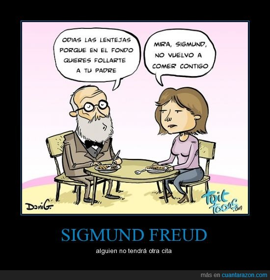 cita,lentejas,Sigmund Freud