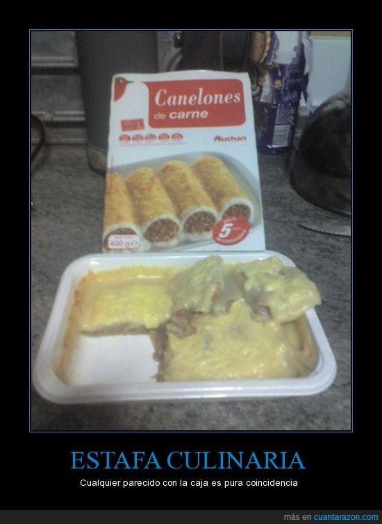 Alcampo,falsa publicidad,y eso que lo cociné según las instrucciones,¿que mierda es esto?