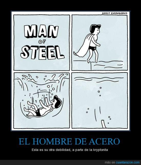acero,agua heroe,hombre superman,steal,super