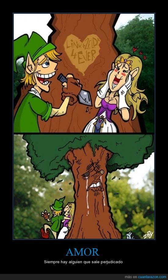 amor,árbol,corazón,link,videojuego,zelda