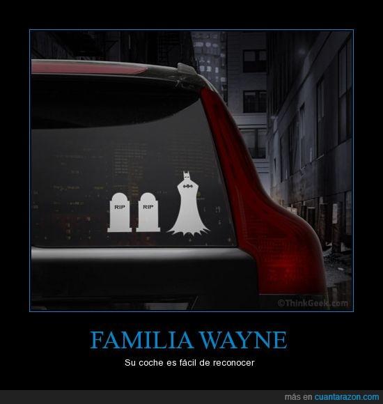 batman,Bruce Wayne,calcos,coche,familia,muertos,padres,troll