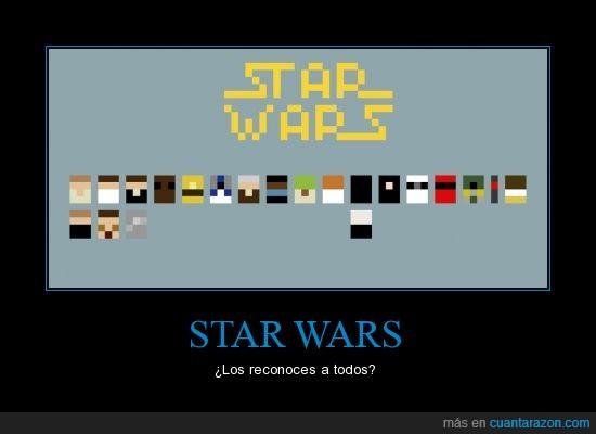 minimal,pixels,reconocer,star wars