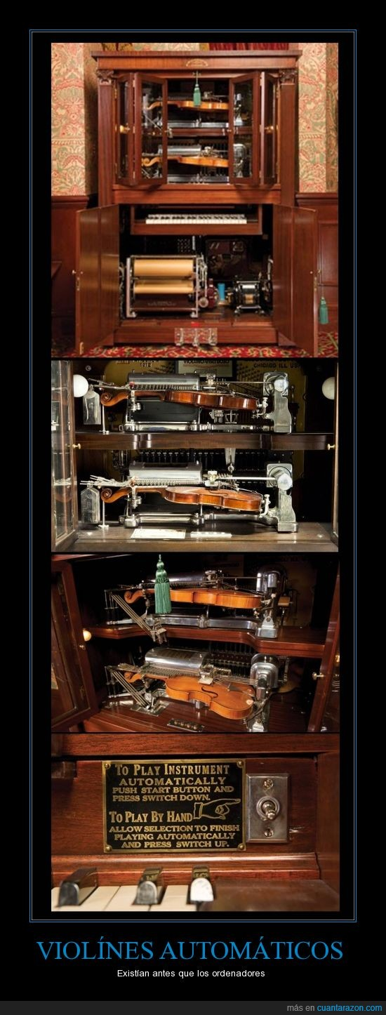 automatico,caja,maquina,tocar,violín