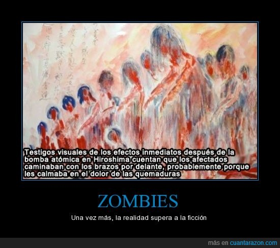 atomica,efectos,Hiroshima,visctimas,zombies