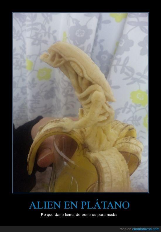 alien,banana,forma,platano