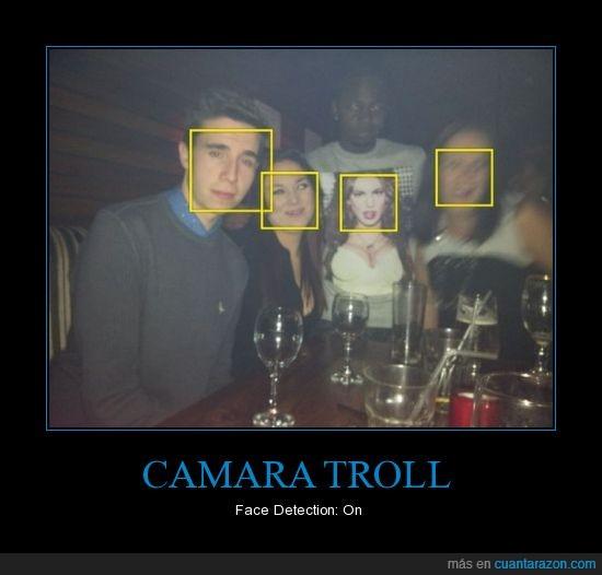 Cámara Digital,Cara,Face Detection,Rostros,Troll