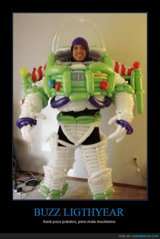 buzz lightyear,disfraz,globo,toy story,traje