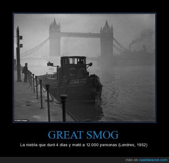 ambiental,combustibles,fenomeno,londres,muertos,niebla,quema