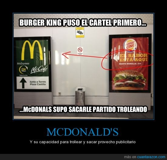 burger king,cartel,madrid,mcdonals,metro,trolear