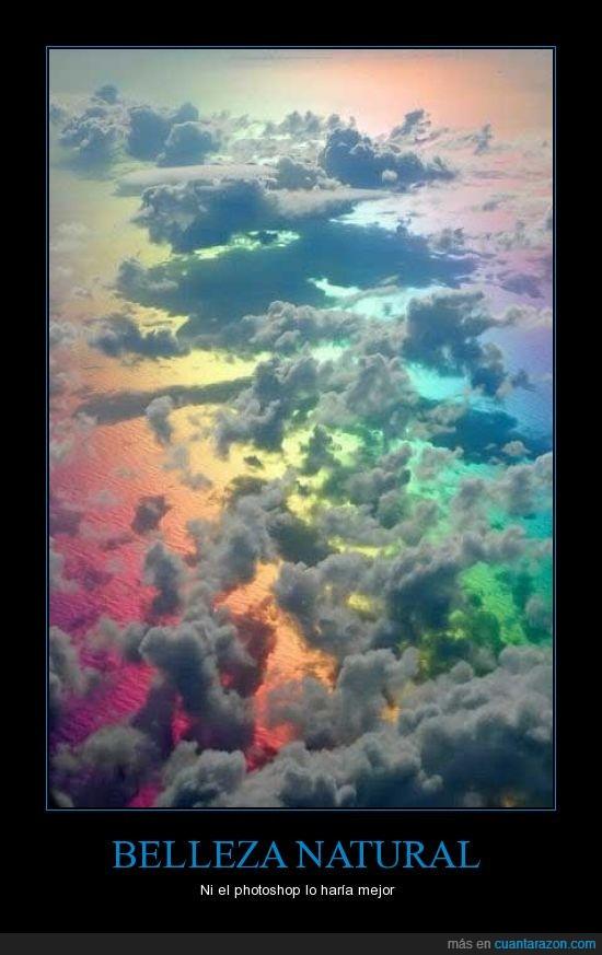 arco iris,naturaleza,nubes,photoshop