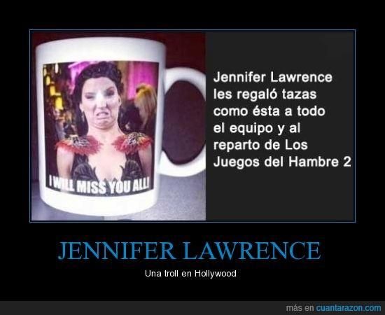 careto,Jennifer Lawrence,los juegos del hambre,regalo,taza