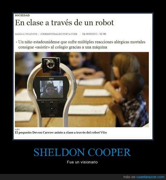 alergias,clase,EEUU,futuro,Robot,Sheldon Cooper,TBBT