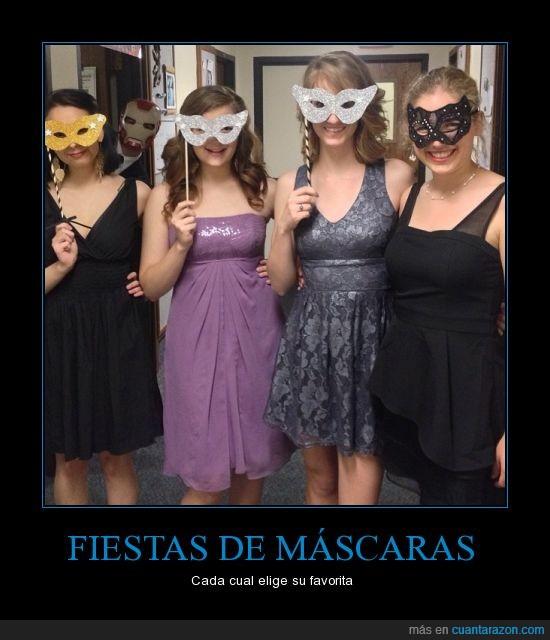 antifaz,Baile,Fiesta,Friki,Iron Man,Mascara,mujeres