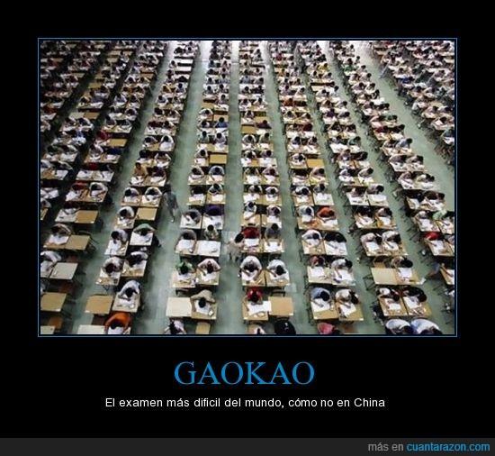 admision,china,examen,Gaokao,mejor me voy al Mc Donalds,universidad