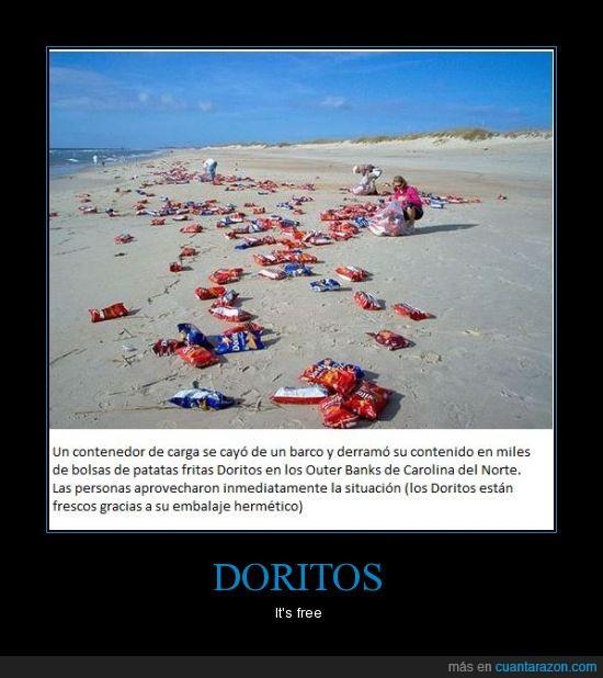 bolsa,doritos,gratis,playa