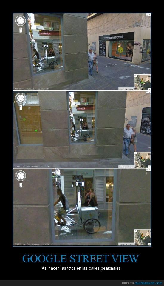 bici,calle mesones,camara,google street view,granada,triciclo
