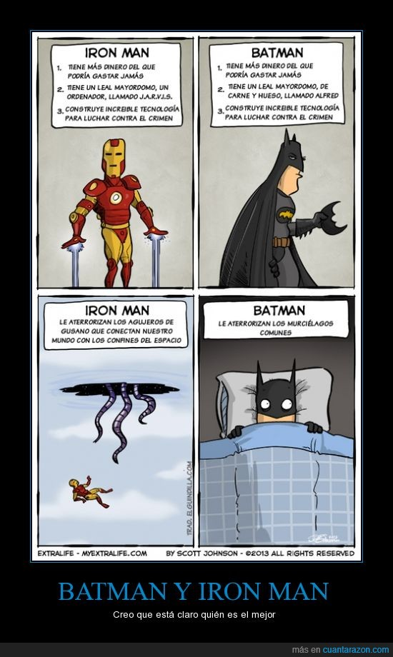 agujero negro,batman,heroe,intergalactico,iron man,mejor,miedo,murcielago