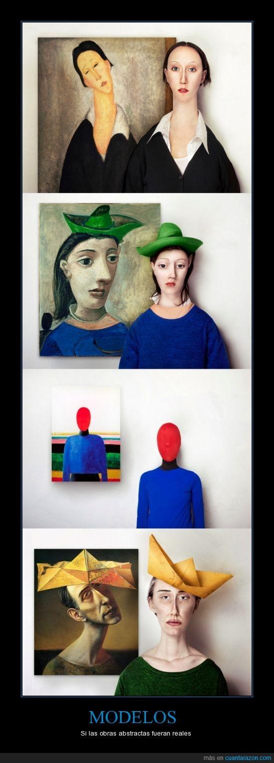 Amedeo Modigliani,Bust of Woman,Gelber Narrenhut,Kazimir Severinovich Malevich,Mujer con sombrero verde,Pablo Picasso,persona,Polish Woman,real,Rudolf Hausner