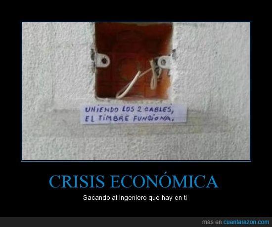 2 cables,crisis economica,funciona,timbre