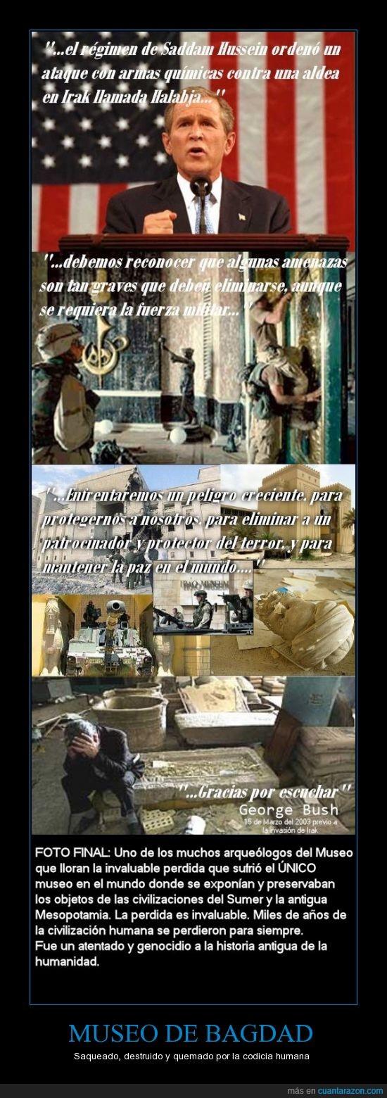 bagdad,EEUU,historia,Irak,museo,origen de la humanidad,perdidas invaluables,saqueo