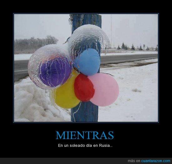 congelar,frio,globos,hielo,increible,inflar,rusia