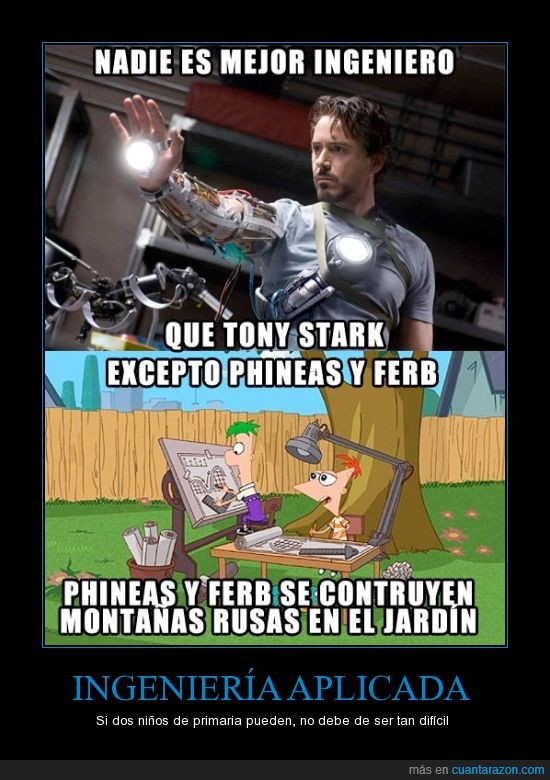ferb,ingeniero,iron man,ironman,montaña rusa,phineas,tony stark