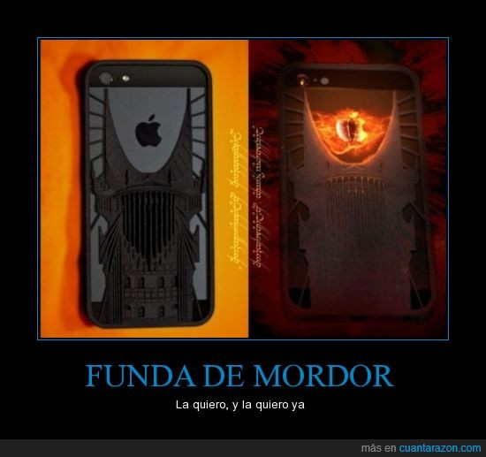 funda,iphone,Mordor,ojo,sauron