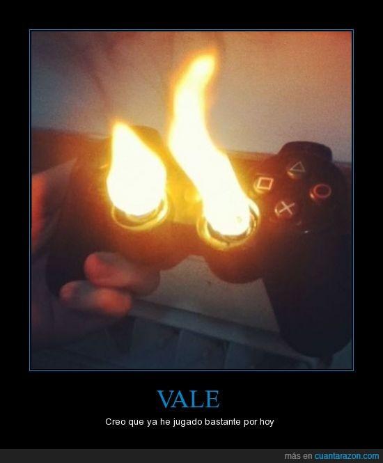 fuego,Gamers,joystick,mando,playstation,videojuego