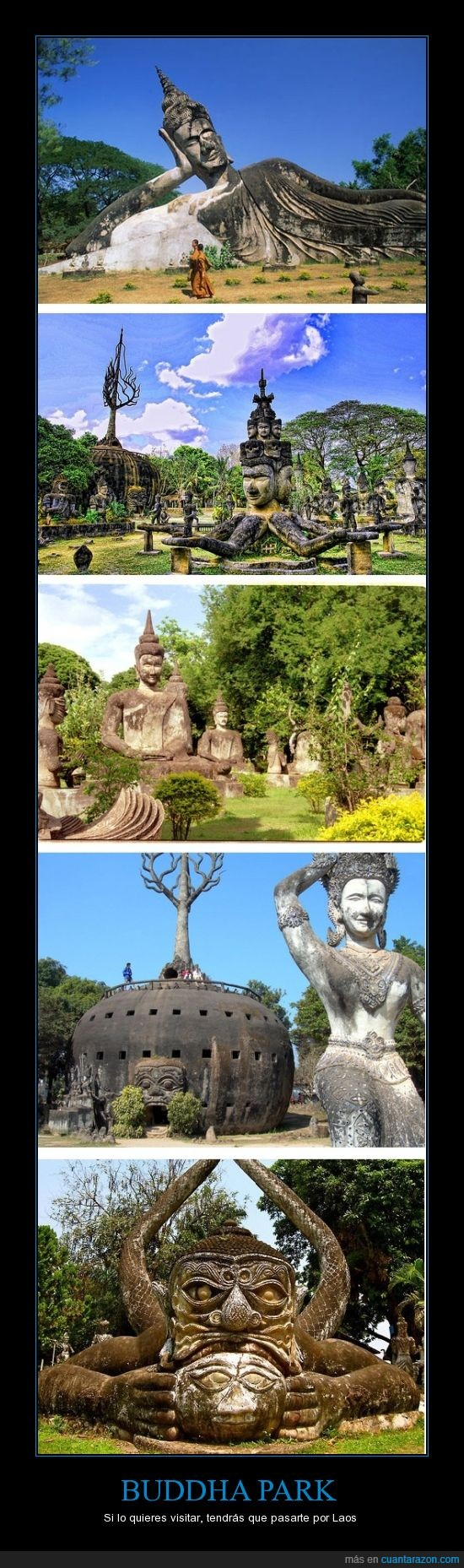 buddha park,esculturas,laos,parque