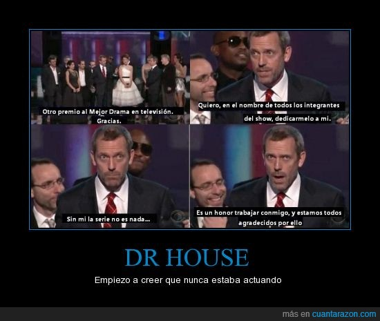 actuar,agradecer,dr house,gala,premios