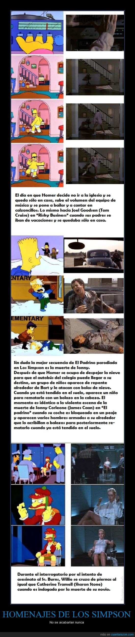 El Padrino,Los Simpson,parodias,Peliculas