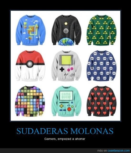 camisetas,game over,gameboy,gamers,pokeball,sudaderas,vida,zelda