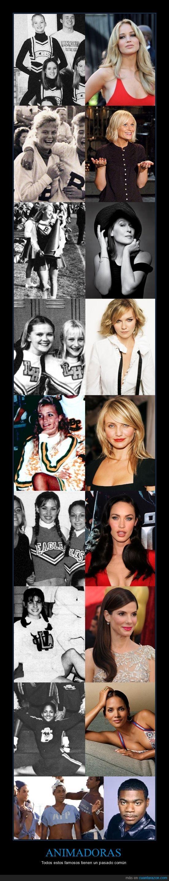 Amy Poehler,animadoras,Cameron Diaz,celebridades,Halle Berry,Jennifer Lawrence,Kirsten Dunst,Megan Fox,Meryl Streep,Sandra Bullock,Tracy Morgan