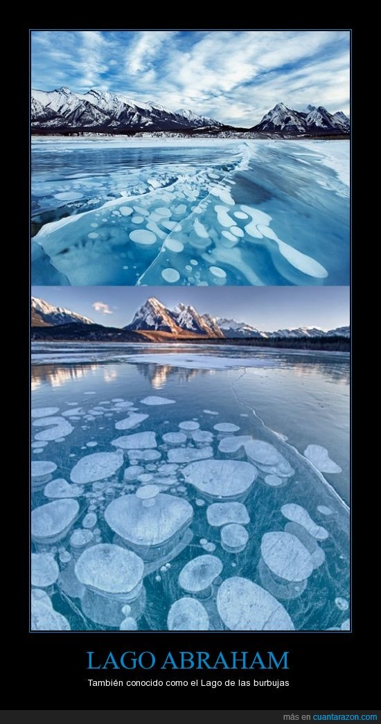 abraham,burbujas,lago,metano